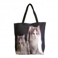 Bolso negro de gatos