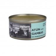 Latas de comida de Atún con Gambas