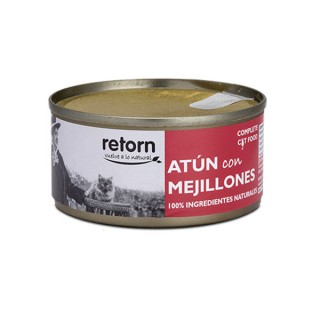 Latas de comida de Atún con Mejillones