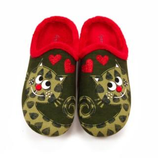 Zapatillas casa - Gato enamorado