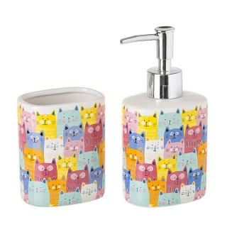 Set baño gato Colores