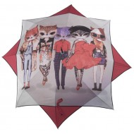 Paraguas Gato Estrella - Color rojo