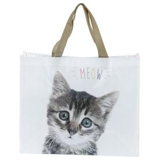 """Bolsa de la Compra Plegable - Gato """"Meow"""""""