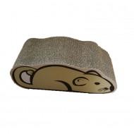 Rascador de cartón en forma de Ratón