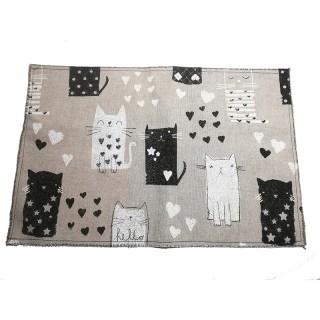 Mantel individual de mesa con gatos
