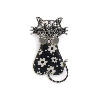 Broche gato negro
