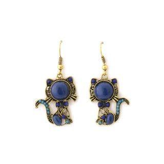 Pendientes perla azul