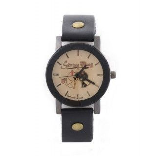 "Reloj negro ""In Love"" M"