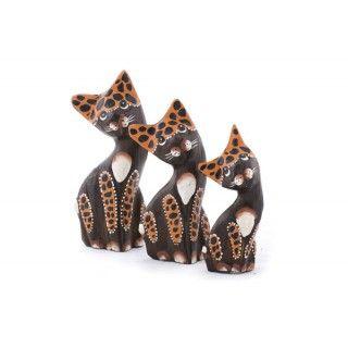 Tres Gatos Leopardo Pequeños - Artesanales