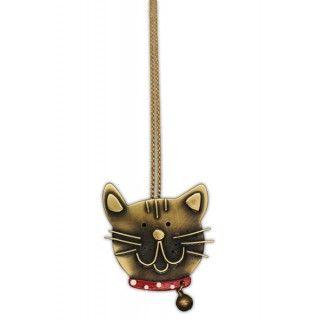 Colgante gato artesanal rojo