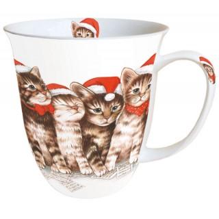 Taza gato canción de navidad