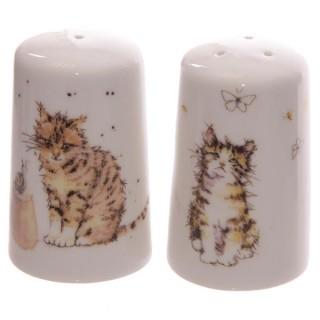 Set salero y pimientero gatos