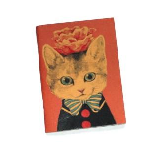 Libreta gato y flor