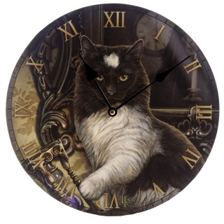 Reloj de pared - Gato sobre güija