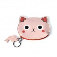 Monedero carita gato rosa