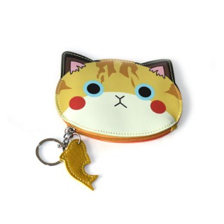 Monedero carita gato amarillo