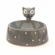 "Comedero Gris ""Ceramic Cat"""