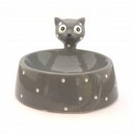 """Comedero Marrón """"Ceramic Cat"""""""