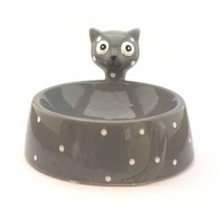 """Comedero Gris """"Ceramic Cat"""""""
