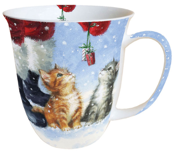 Taza de gato navidad