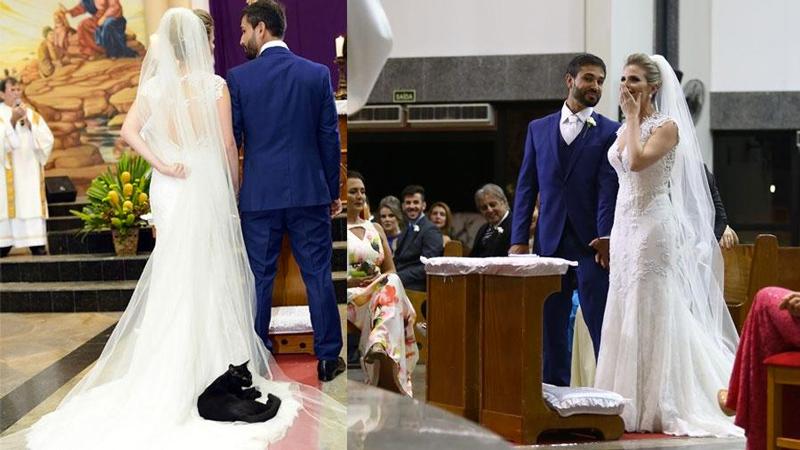 """El invitado """"sorpresa"""" a esta boda brasileña"""